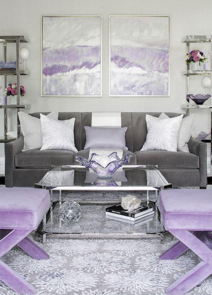 Lavender and Gray Bedroom Lavendar and Gray Glam Lavender Grey Livingroom