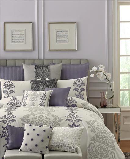 Lavender and Gray Bedroom Malva Y Gris
