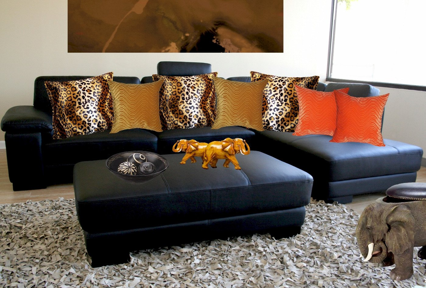 Leopard Decor for Living Room Cheetah Print Room Decor Leopard for Living Animal Sets