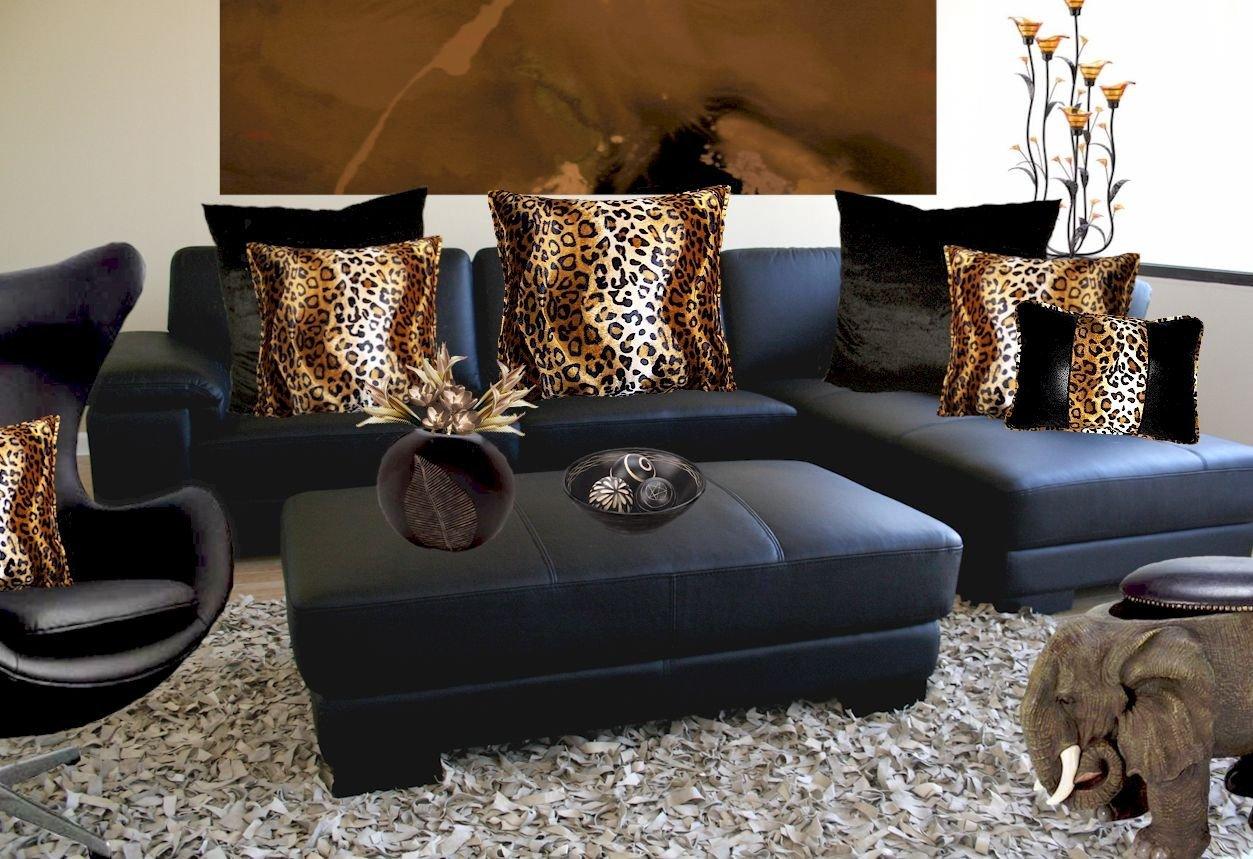 Leopard Decor for Living Room Design Ideas Leopard Black Living Room Very Modern