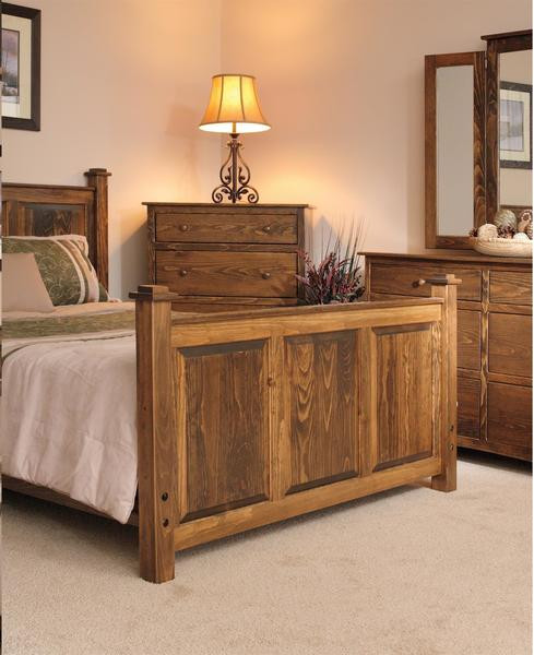 Light Wood Bedroom Furniture American Shaker Pine Three Piece Bedroom Set