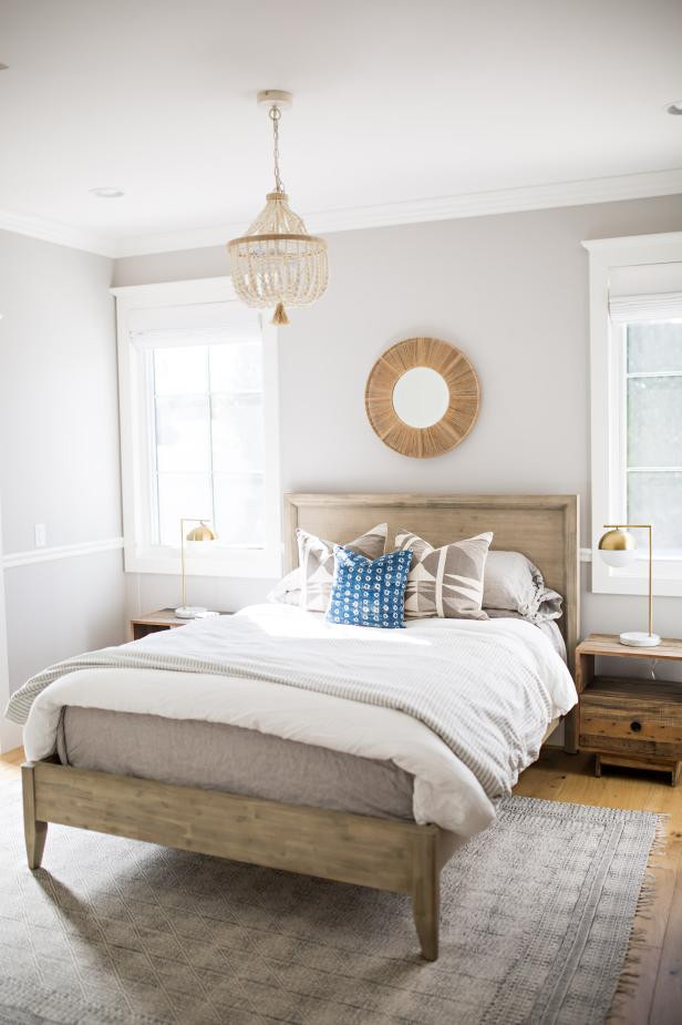 Light Wood Bedroom Furniture Light Wood Bed Frame Adds Natural touch to Guest Room