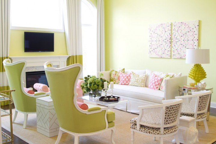 Lime Green Living Room Decor 15 Lime Green Living Room Designs