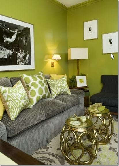 Lime Green Living Room Decor 49 Best Grey & Lime Green Decor Images On Pinterest