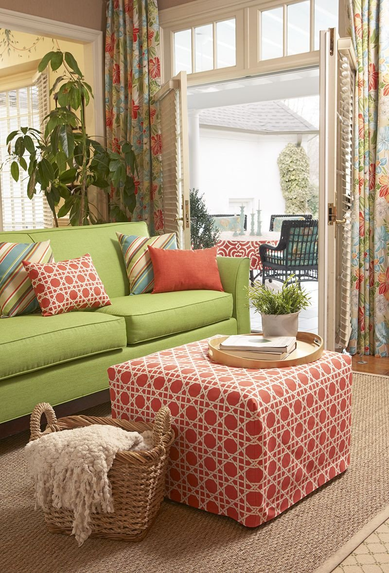 Lime Green Living Room Decor Coral and Lime Green Living Room Color Story Featuring
