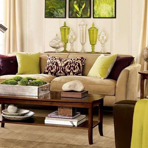 Lime Green Living Room Decor Lime Green and Brown Decor Ideas for the Living Room