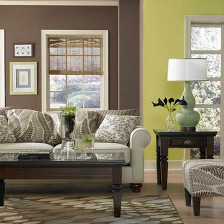 Lime Green Living Room Decor Lime Green and Brown Living Room