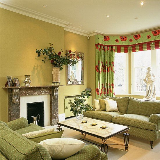lime green living room