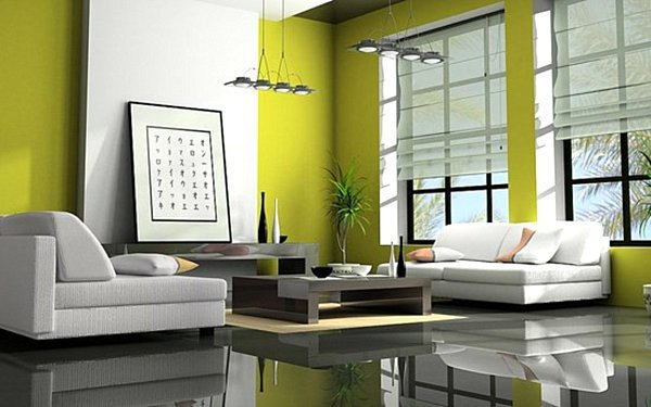 Lime Green Living Room Decor Shades Of Green A Verdant Spring Decorating Palette
