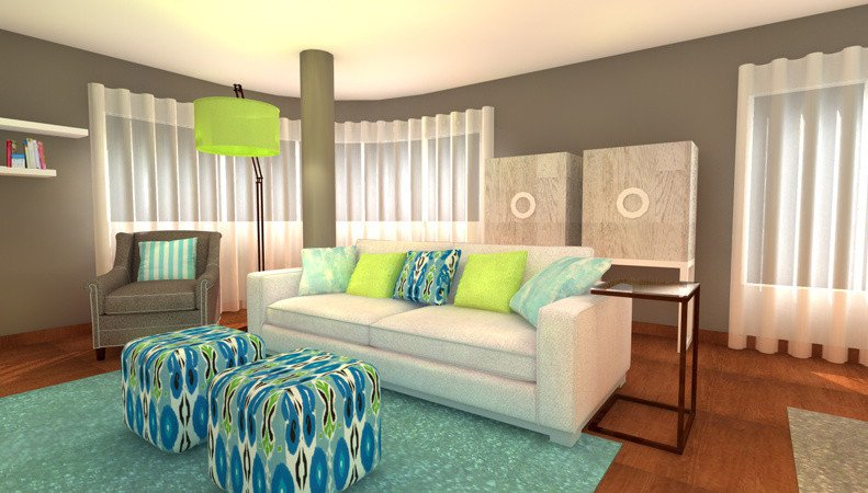 Lime Green Living Room Decor Turquoise and Lime Green Living Room Interior Design Ideas