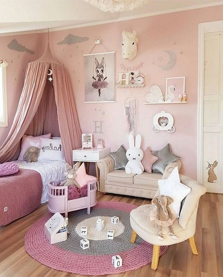 Little Girl Bedroom Decor Kid S Bedroom Ideas for Girls 75 Cute Pict