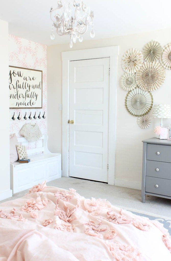 Little Girl Bedroom Decor Vintage Little Girls Room Reveal