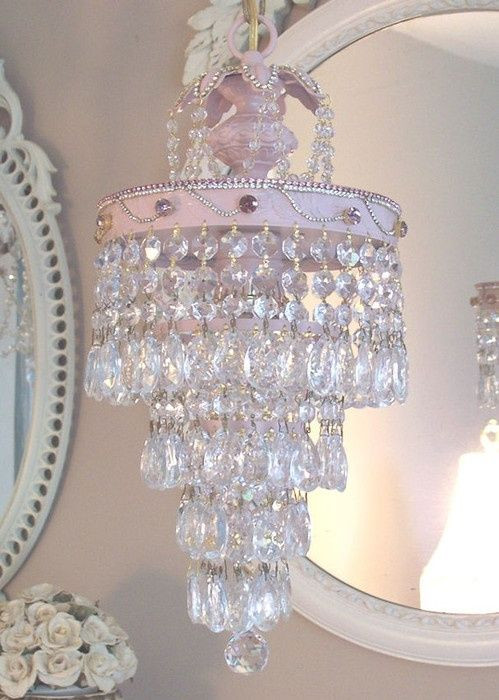 Little Girl Chandelier Bedroom Vintage Shabby Pink What Little Darling Wouldn T Love