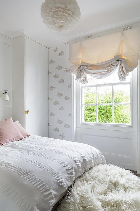 Little Girl Chandelier Bedroom White and Pink Girl Bedroom with White Feather Chandelier