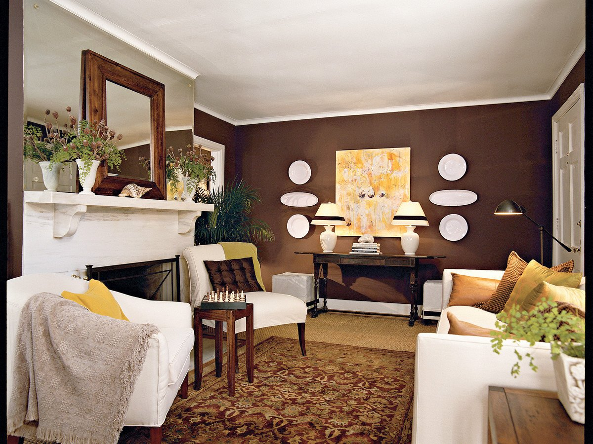 Living Room Art Decor Ideas Chocolate Brown Living Room southern Living