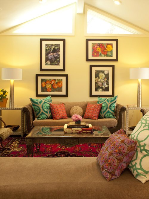 Living Room Art Decor Ideas Yellow and Brown sofa Home Design Ideas Remodel