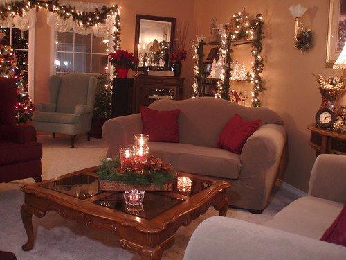 Living Room Center Table Decor Dining Delight Christmas Decor Living Room