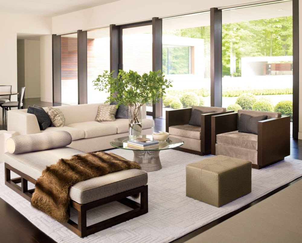 Living Room Center Table Decor Modern Living Room by Carrier and Co Interiors by