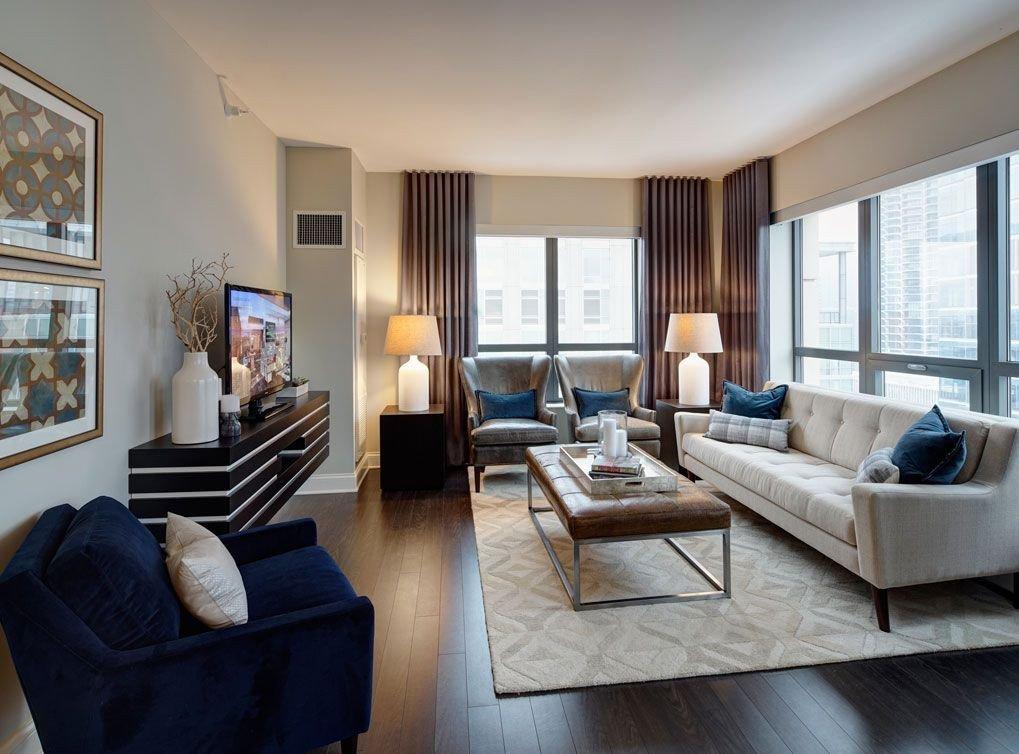Living Room Decor Ideas Apartment Model Living Room at Amli River north A Luxury Apartment