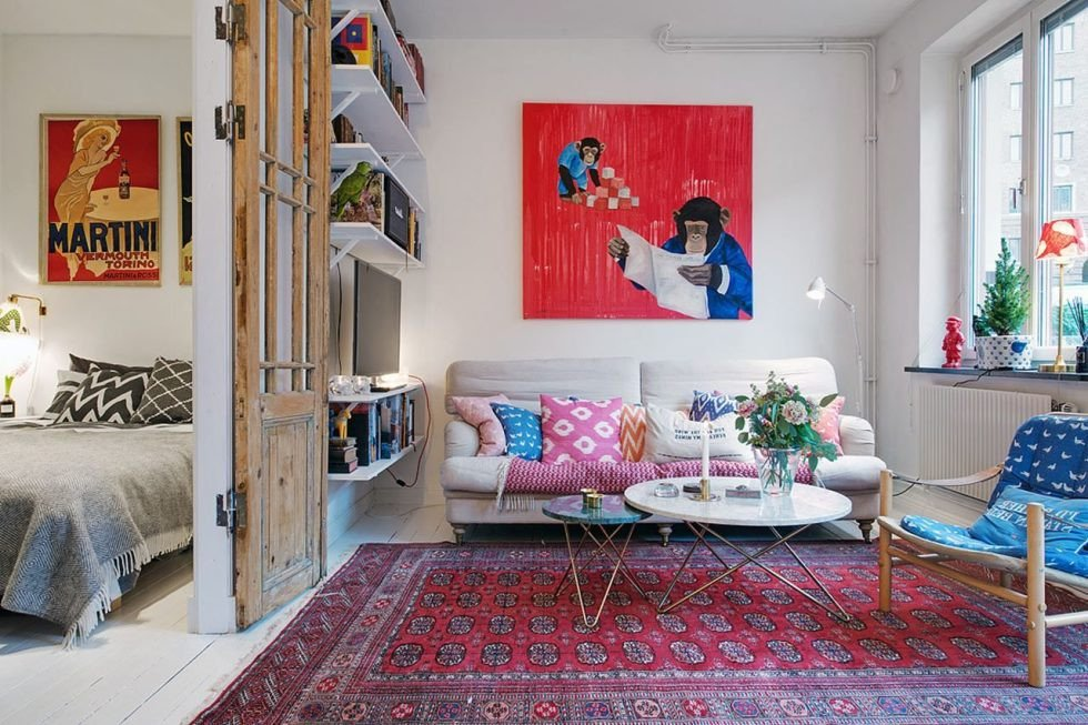 Living Room Decor Ideas Apartment Small Swedish Apartment as An Example Of Scandinavian Style