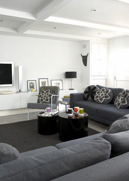 Living Room Decor Ideas Modern Gray Contemporary Modern Family Room Living Room Design