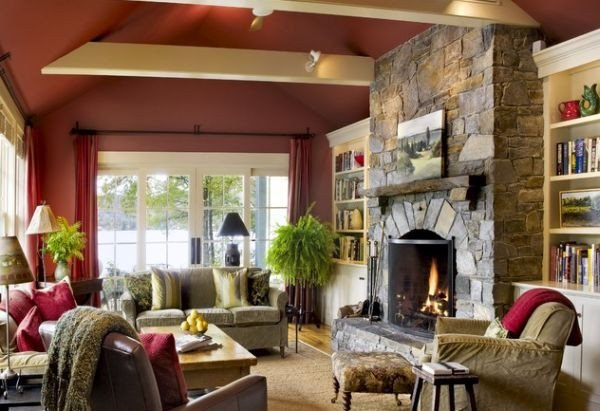 Living Room Decor with Fireplace 125 Living Room Design Ideas Focusing Styles and