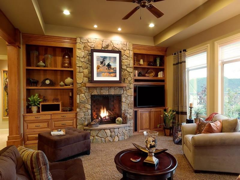 Living Room Decor with Fireplace 54 fortable and Cozy Living Room Designs