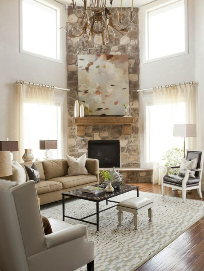 Living Room Decor with Fireplace Arranging Furniture with A Corner Fireplace Brooklyn