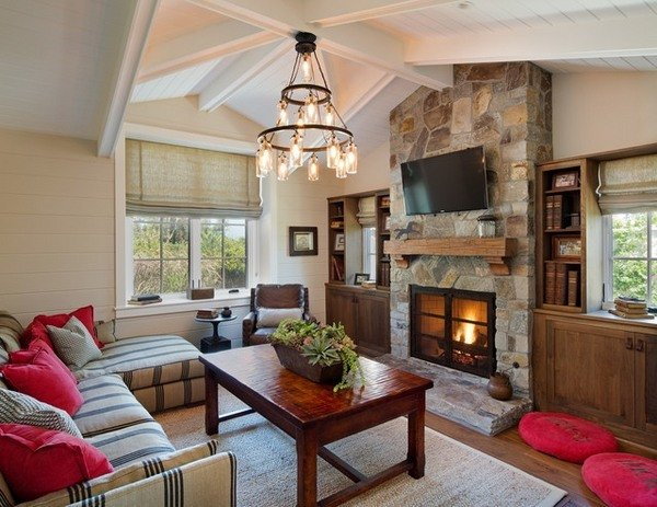 Living Room Decor with Fireplace Basic Elements In Farmhouse Design – How to Recognize the