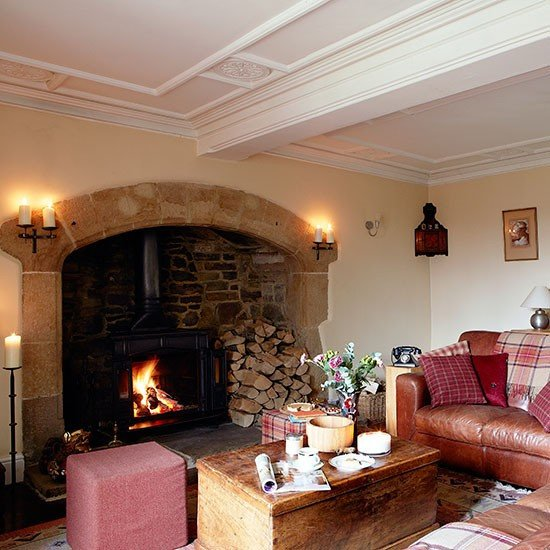 Living Room Decor with Fireplace Country Living Room with Inglenook Fireplace