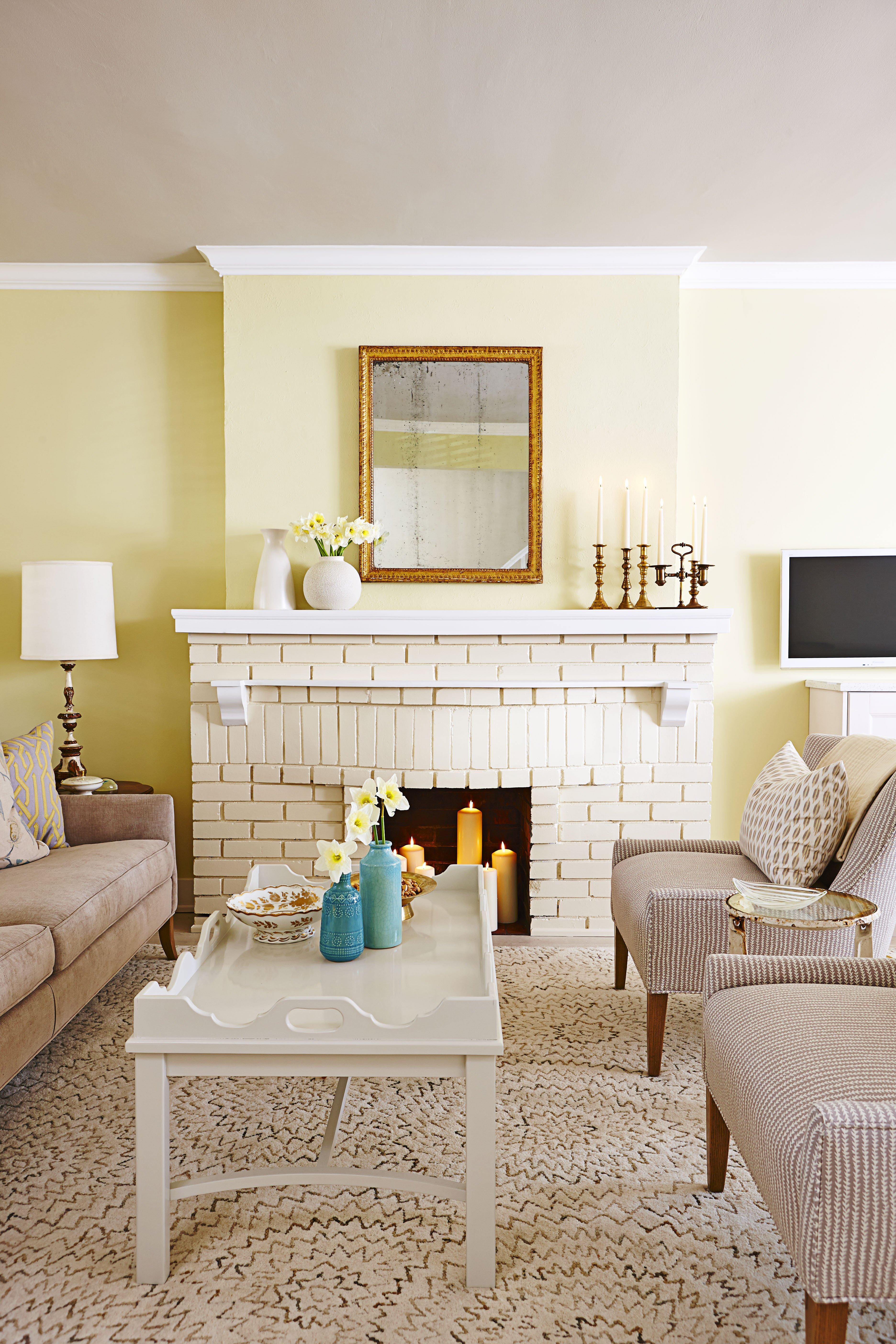 Living Room Decor with Fireplace Design Tricks From Sarah Richardson Sunny Serene House tour