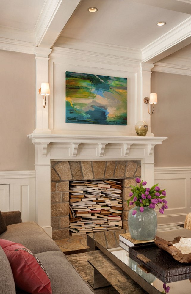 Living Room Decor with Fireplace East Coast Inspired Family Home Home Bunch Interior
