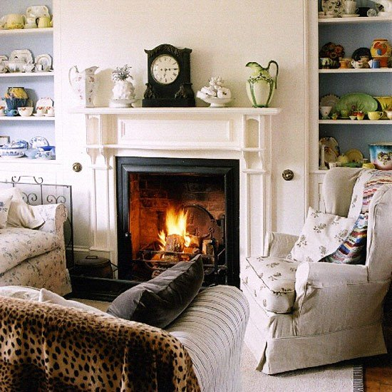 Living Room Decor with Fireplace Living Room with Fireplace