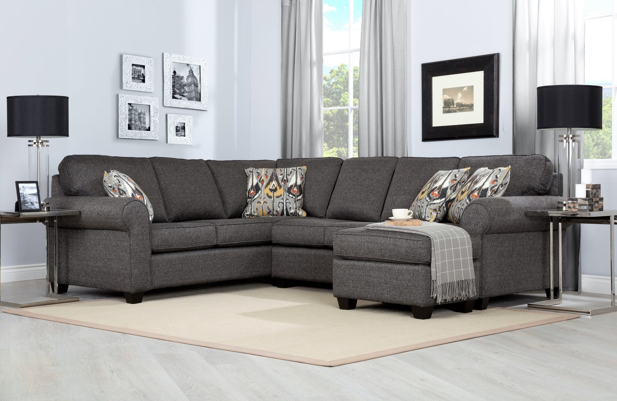 Living Room Decor with Sectional Decor Rest 2576 Sectional Room Concepts