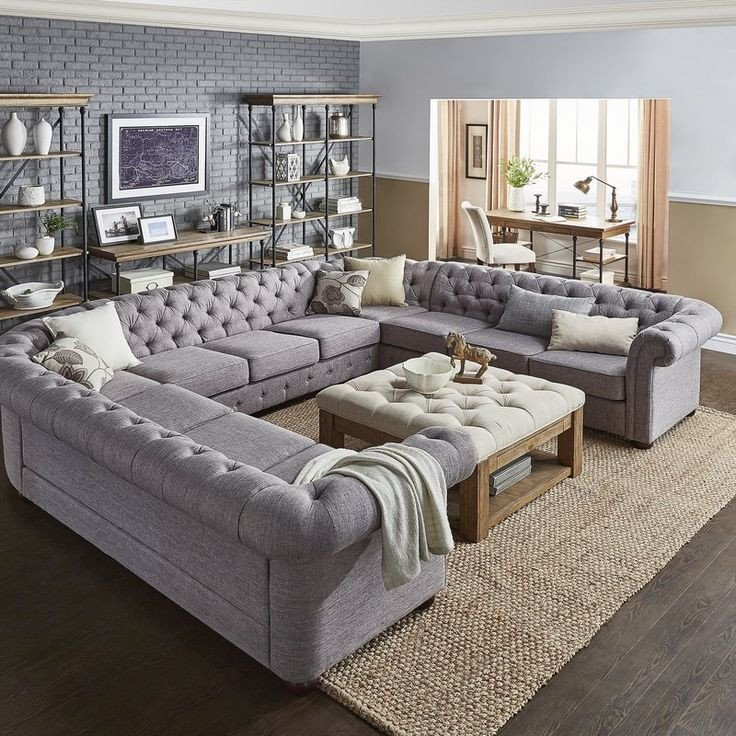 Living Room Decor with Sectional Gowans Sectional Collection In 2019 Basement