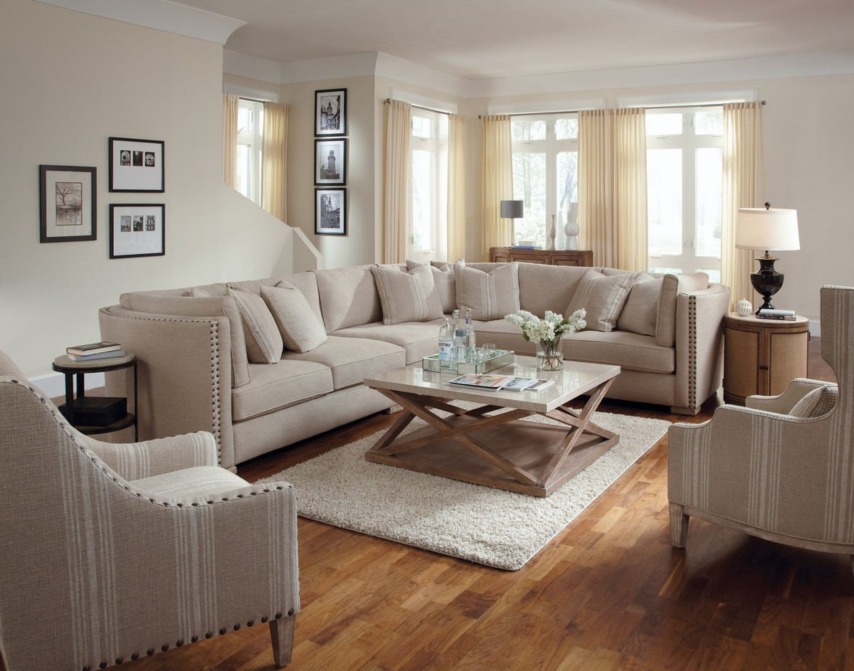 Living Room Decor with Sectional Natural Sectional sofa