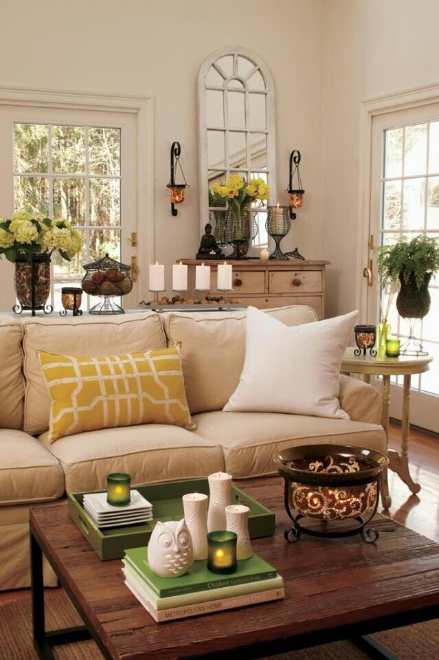 33 cheerful summer living room decor ideas