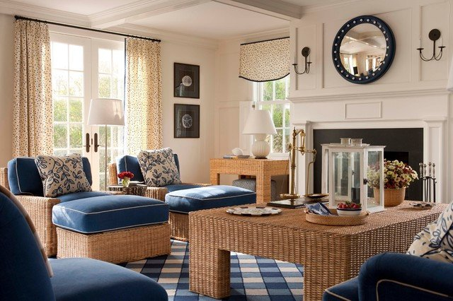 Living Room Design for Summer Nantucket Summer Home Beach Style Living Room Boston