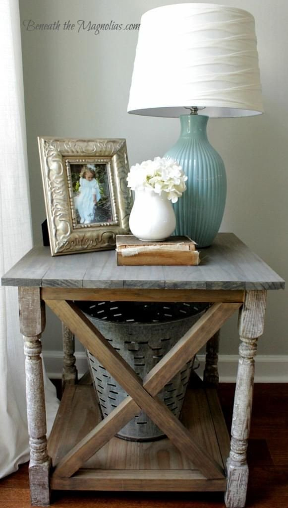 Living Room End Table Decor Angie Henry Uploaded This Image to Ana White Rustic X
