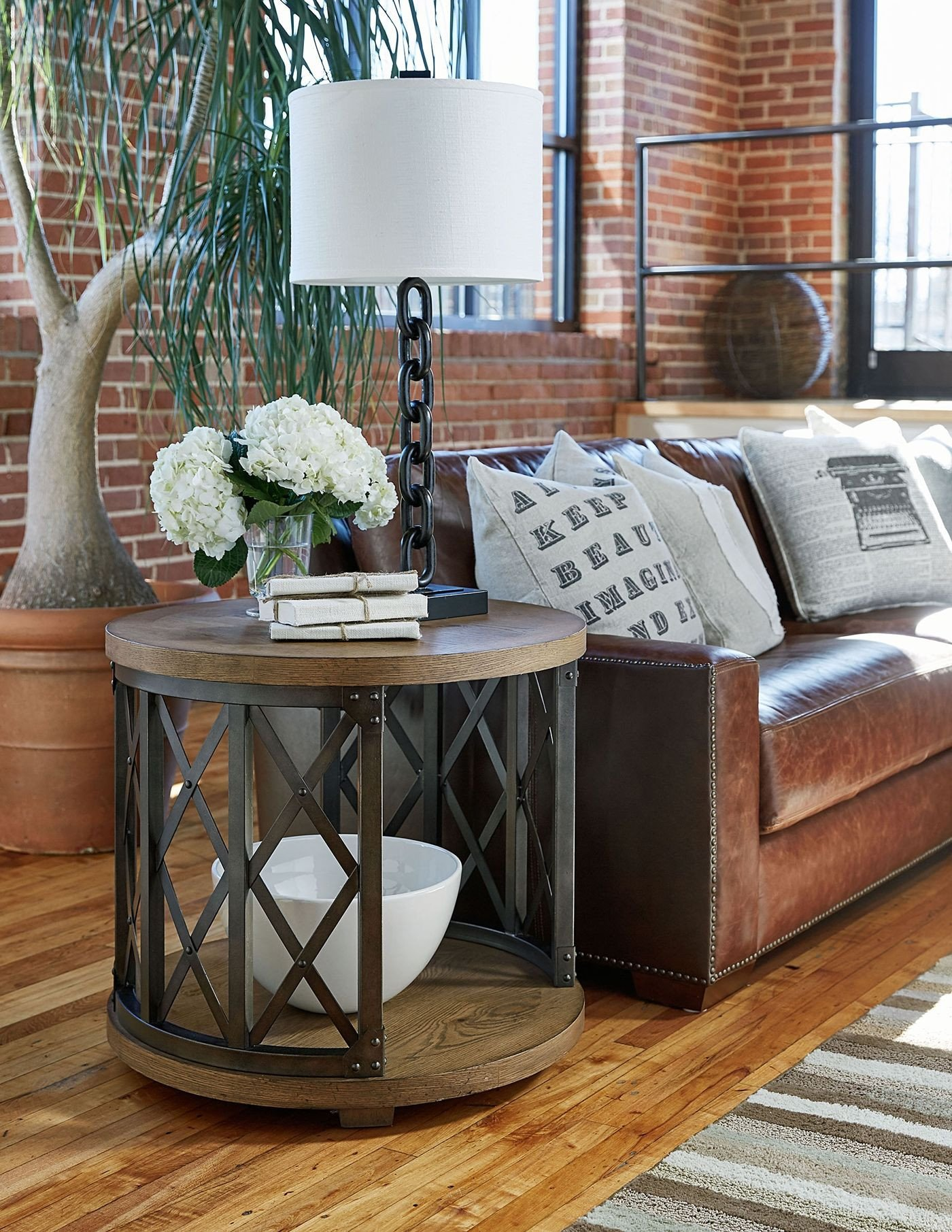 Living Room End Table Decor Metalworks Round End Table In 2019