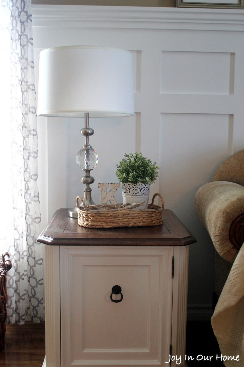 Living Room End Table Decor Repurposed Living Room End Table Thrifted Item Makeover