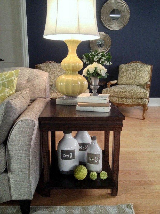Living Room End Table Decor White Room Challenge La Z Boy Design Dash Home Stories