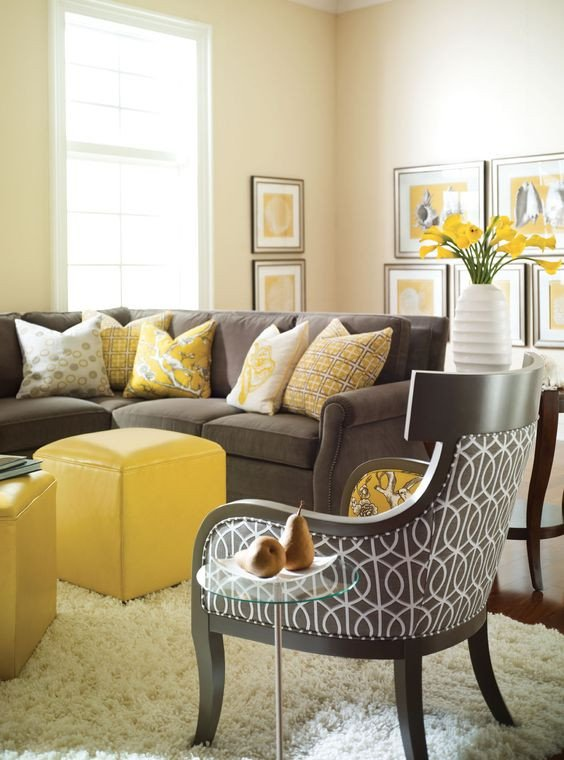 Living Room Furniture Ideas 29 Stylish Grey and Yellow Living Room Décor Ideas Digsdigs