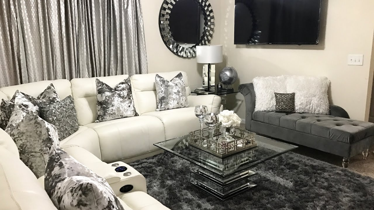 Living Room Home Decor Ideas Glam Living Room tour