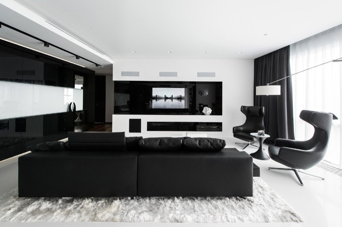 Living Room Ideas Black 30 Black & White Living Rooms that Work their Monochrome Magic