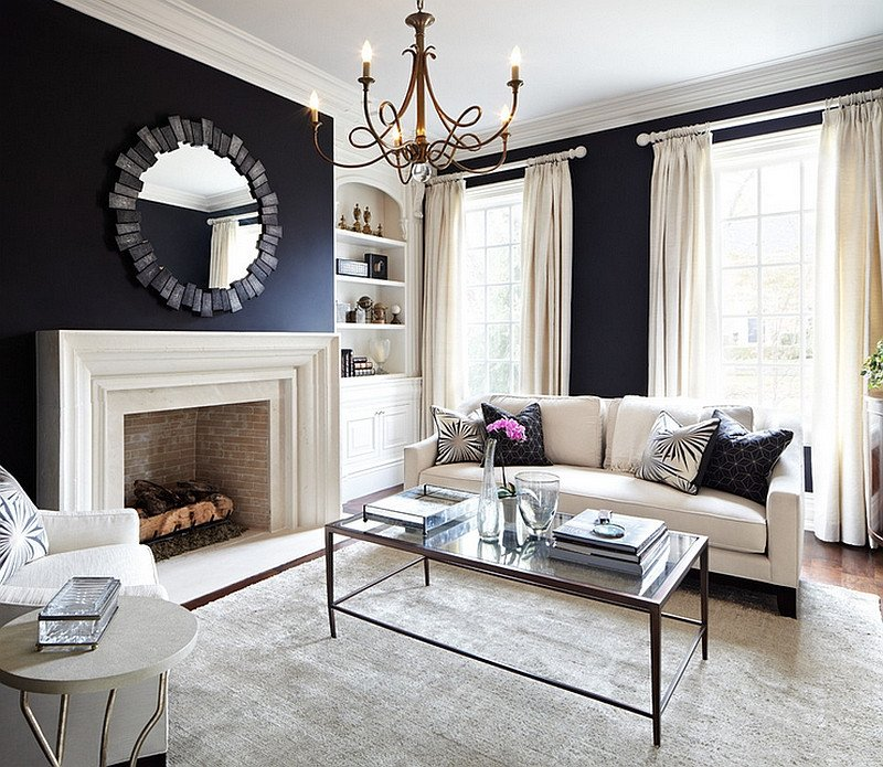 Living Room Ideas Black Black and White Living Rooms Design Ideas