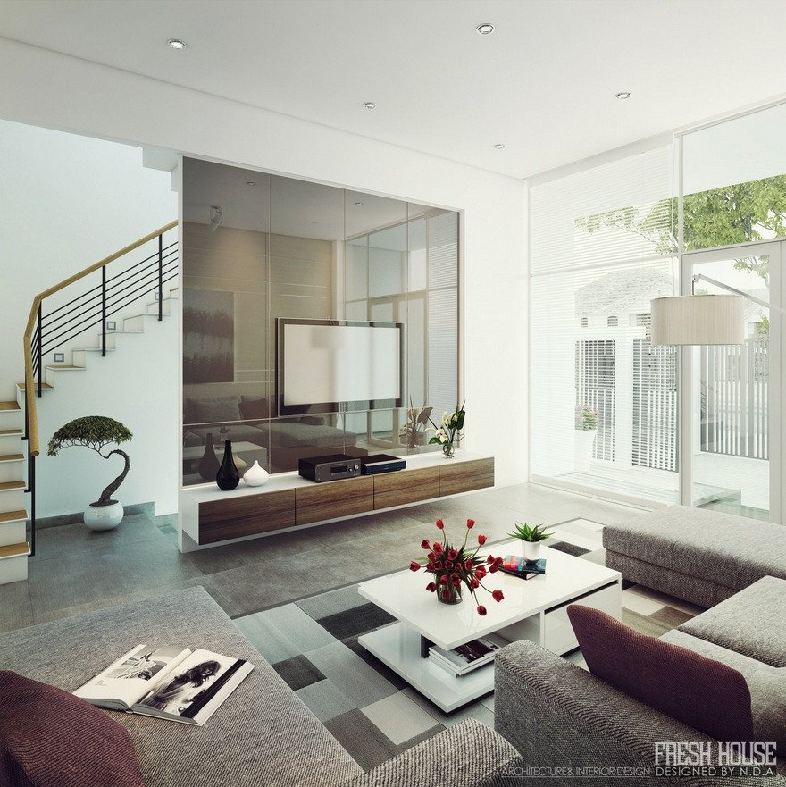 Living Room Ideas Contemporary Light Filled Contemporary Living Rooms