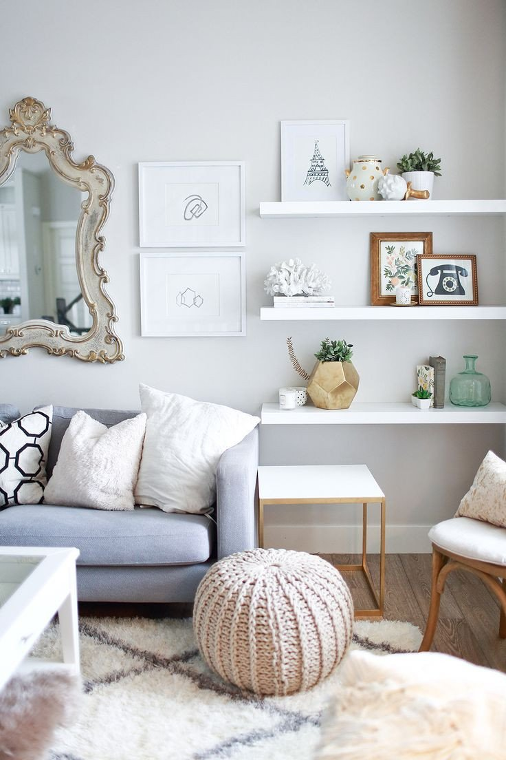 Living Room Ideas Shelves 10 Ways to Work with Floating White Shelves