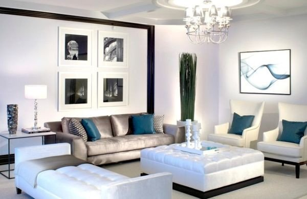 Living Room Ideas Teal Accent Couch and Pillow Ideas for A Cool Contemporary Home