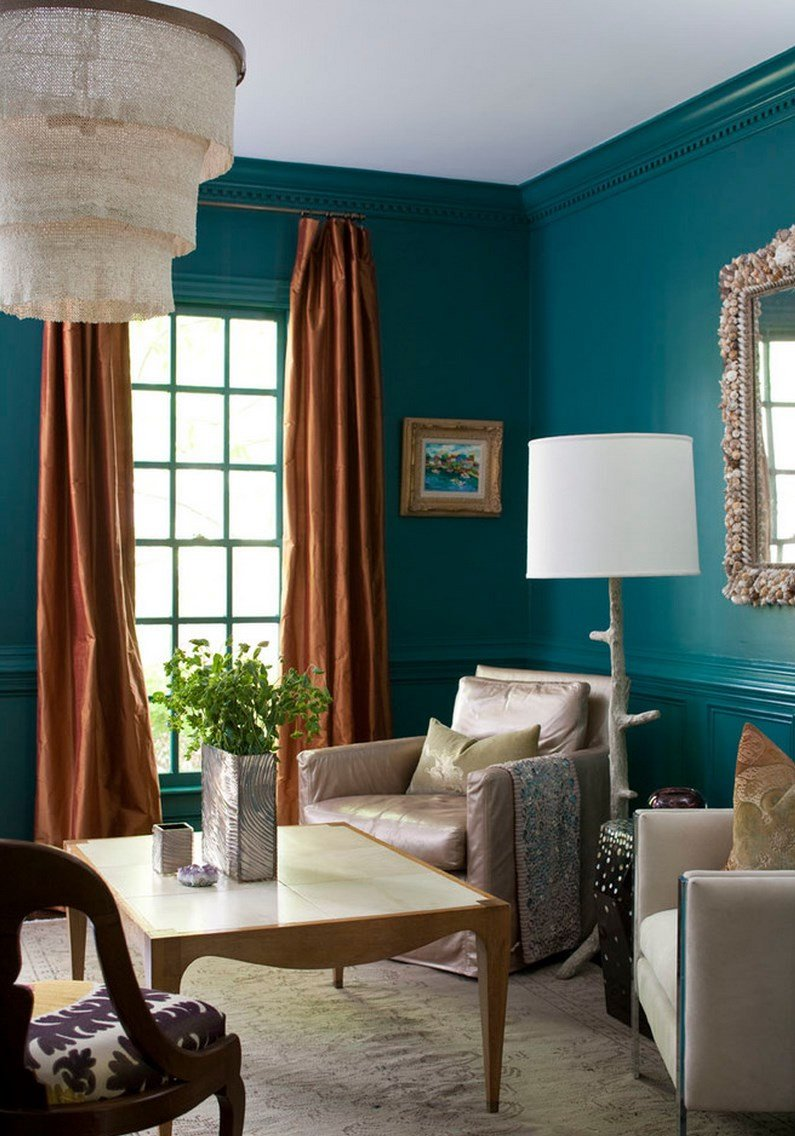 Living Room Ideas Teal Painting and Design Tips for Dark Room Colors